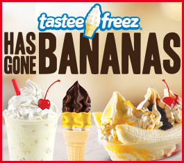 Tastee Freez has gone bananas