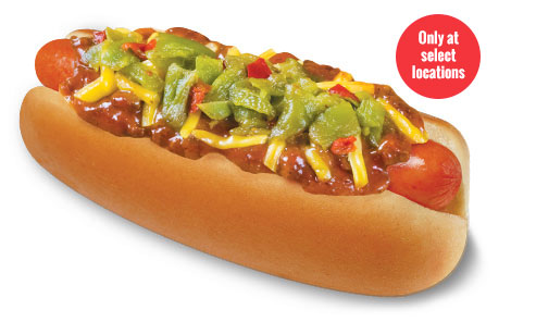 Green Chile Chili Cheese Dog