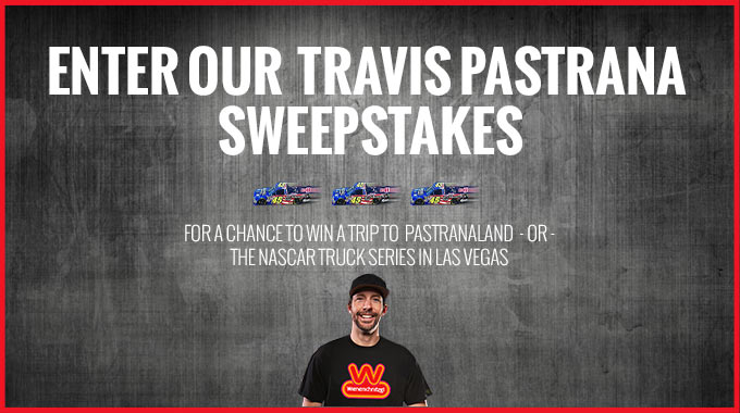 Wienerschnitzel will Send One Lucky Hot Dogger to Hang Out at the Action Sports Home of Eleven-Time X-Games Champion Travis Pastrana